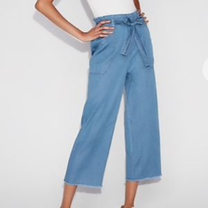 NWT Express High Waisted Blue Cropped Pant